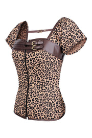 Nairi Leopard Print Cotton Top