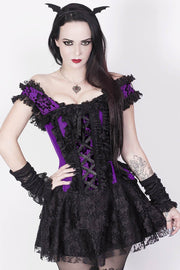 Dahna Custom Made Purple Halter Burlesque Corset Dress