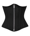 Waist Shaper Black Corset in 100% Cotton