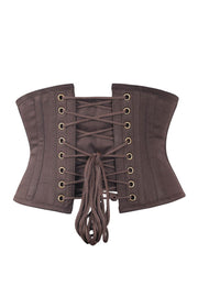 Sold Out - Brown Cotton Corset Waist Shaper