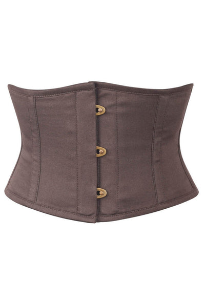 Brown Cotton Corset Waist Shaper