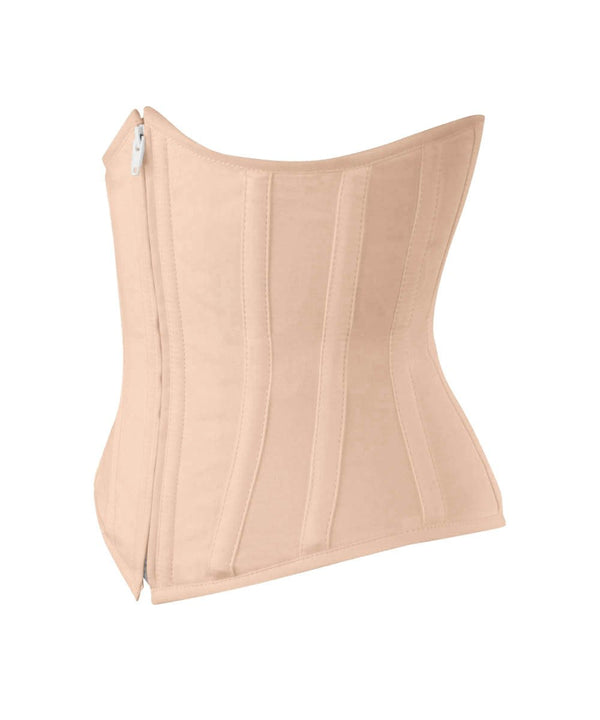 Underbust Nude Waist Shaper Corset in 100% Cotton