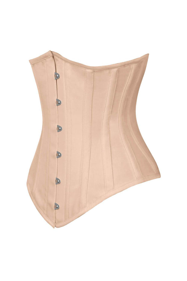 Long Line Nude Waist Shaper Corset in 100% Cotton