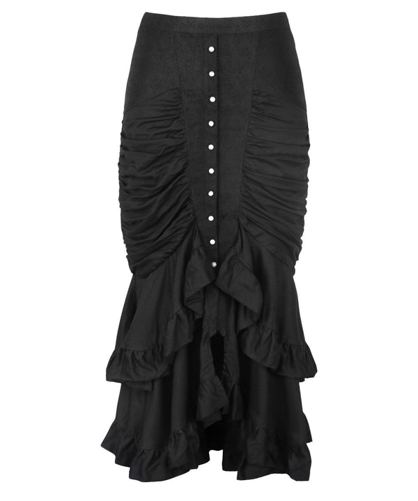 Bera Black Gothic Bustle Skirt