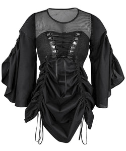Lamia Steampunk Black Dual Top and Dress