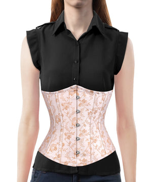 Instant Shape Brocade Corset with Cotton Lining