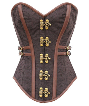 Instant Shape Steampunk Brocade Corset with Side Buckles