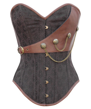 Instant Shape Brocade Steampunk Corset with Chains