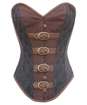 Instant Shape Buckle Up Overbust Steampunk Corset
