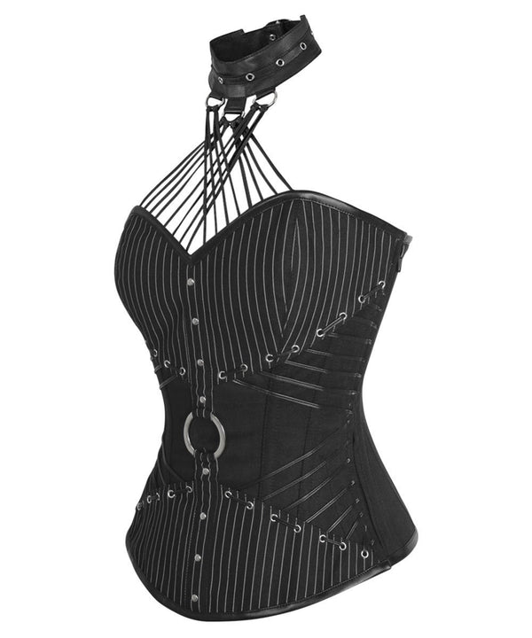 Auden Gothic Overbust Corsets with Attached Neck Gear