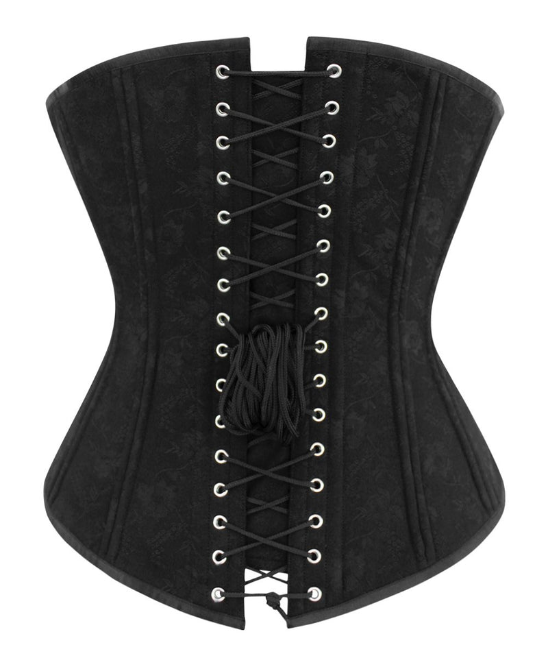 Avaya Longline Plus Size Waist Training Black Corset