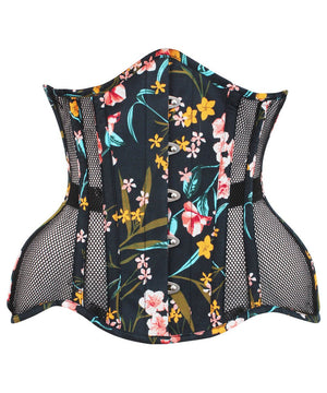 Curvy Mesh & Floral Printed Cotton Corset - Summer 2018