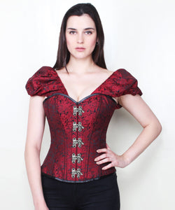 Zeina Clasp Opening Gothic Corset with Short Sleeve