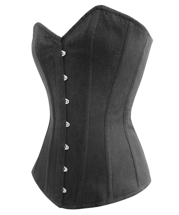 SOLD OUT - Denver Black Brocade Overbust Gothic Corset