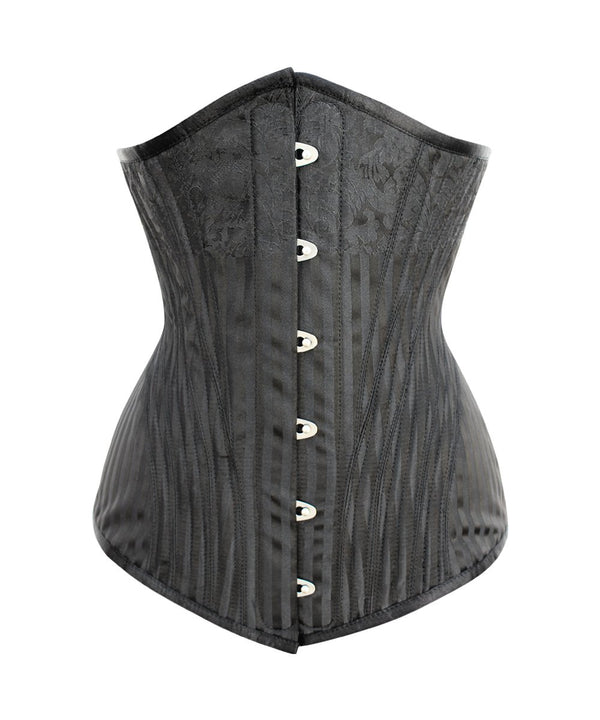 Sawyer Brocade Waist Training Black Corset