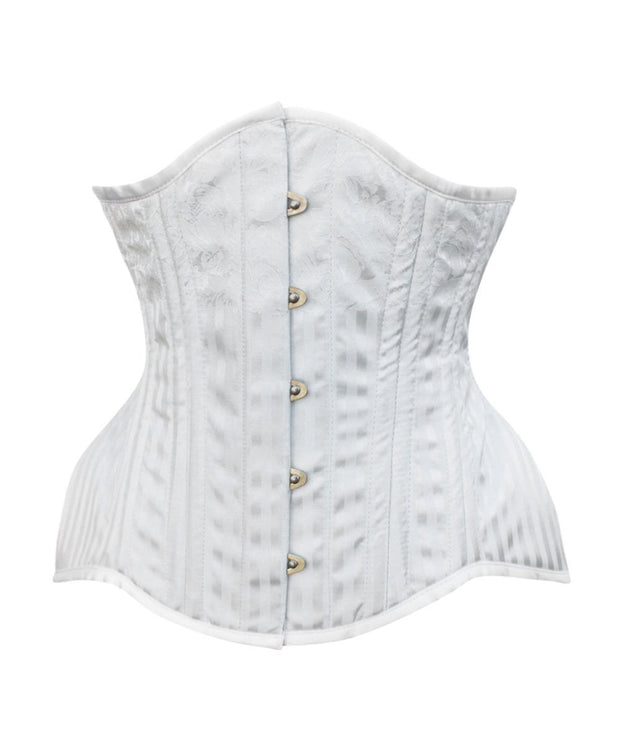 Parker White Brocade Curvy Waist Training Corset