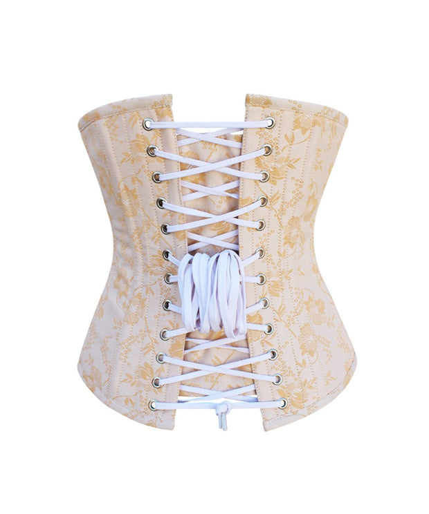 Peaches Steel Boned Brocade Underbust Corset