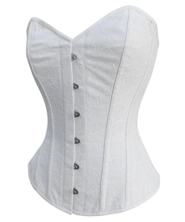 SOLD OUT - Satchel White Brocade Overbust Corset