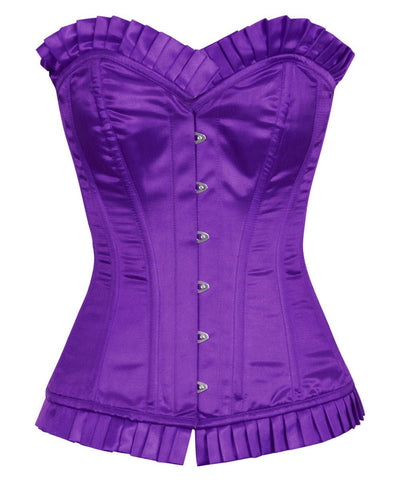 Abdera Burlesque Fashion Purple Corset with Frill