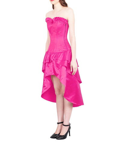 Ailesh Burlesque Magenta Mullet Corset Dress