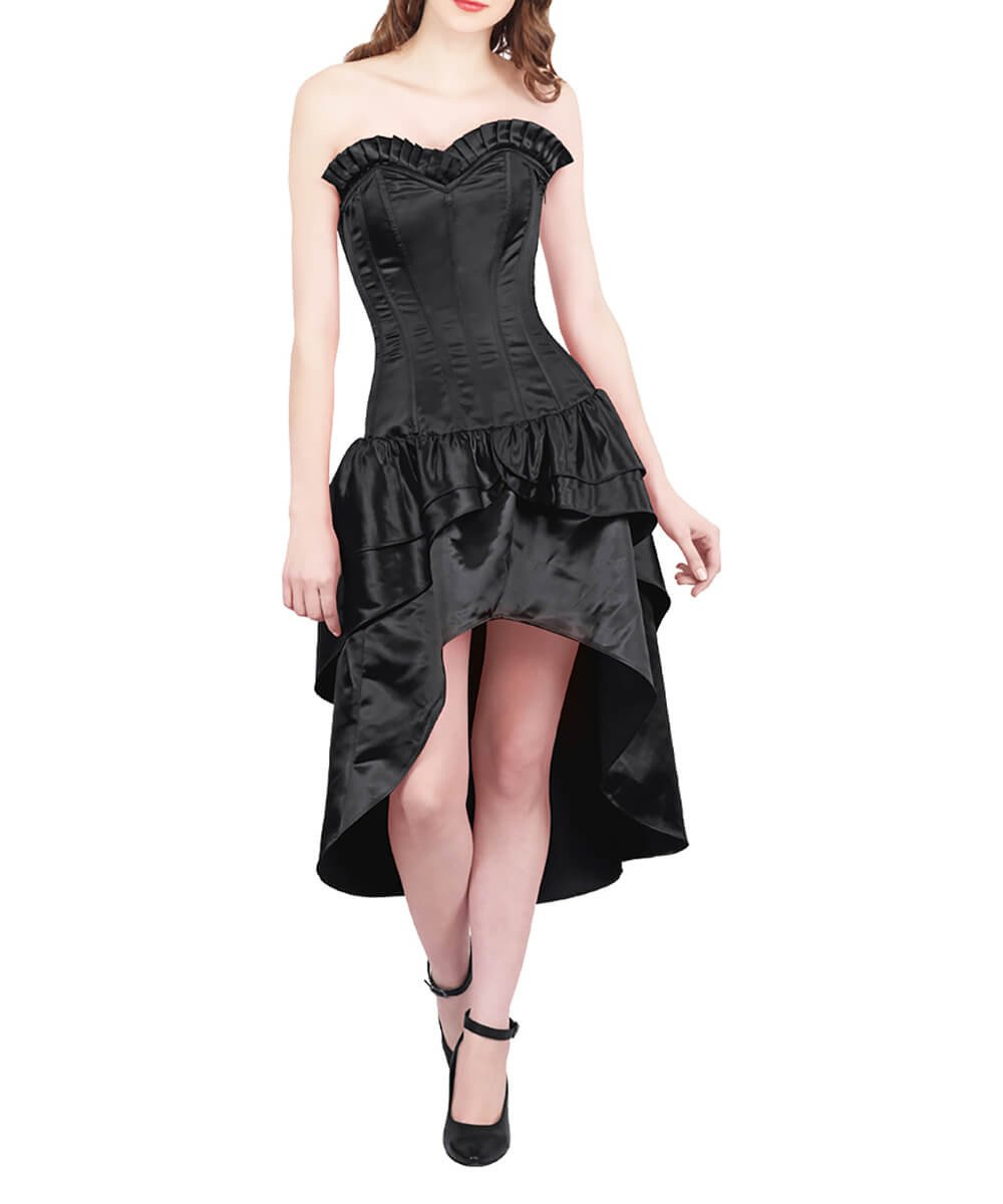Friedel Burlesque Black Mullet Corset Dress