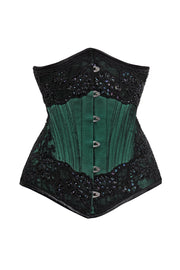 Calico Waist Trainer Lace Overlay Couture Corset