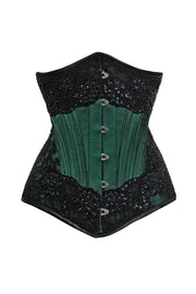 Calico Custom Made Waist Trainer Lace Overlay Couture Corset