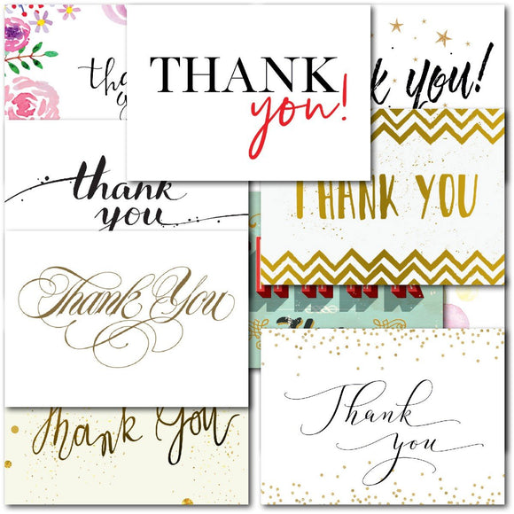 Pack of 20 Thank You Notecards Adult