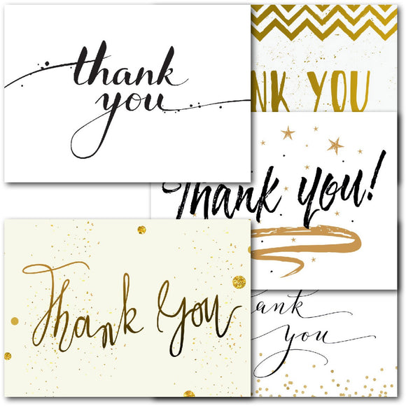 Pack of 20 Thank You Notecards Formal