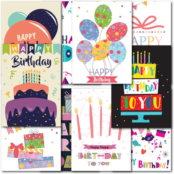 Pack of 20 Small Mixed Birthday Cards