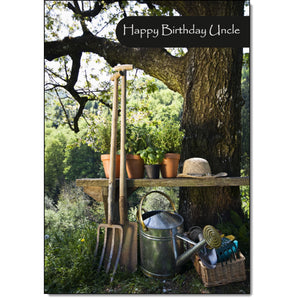 Doodlecards Uncle Birthday Card Gardening - Medium