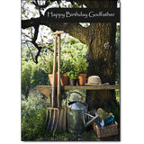 Doodlecards Godfather Birthday Card Gardening - Medium