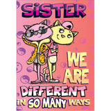 Doodlecards Funny Sister Birthday Card - Medium