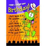 Doodlecards Funny Belated Birthday Card - Medium