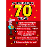 Doodlecards Funny 70th Birthday Card Age 70 - Medium