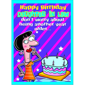 Doodlecards Funny Daughter in Law Birthday Card - Medium