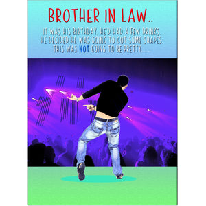 Doodlecards Funny Brother in Law Birthday Card - Medium