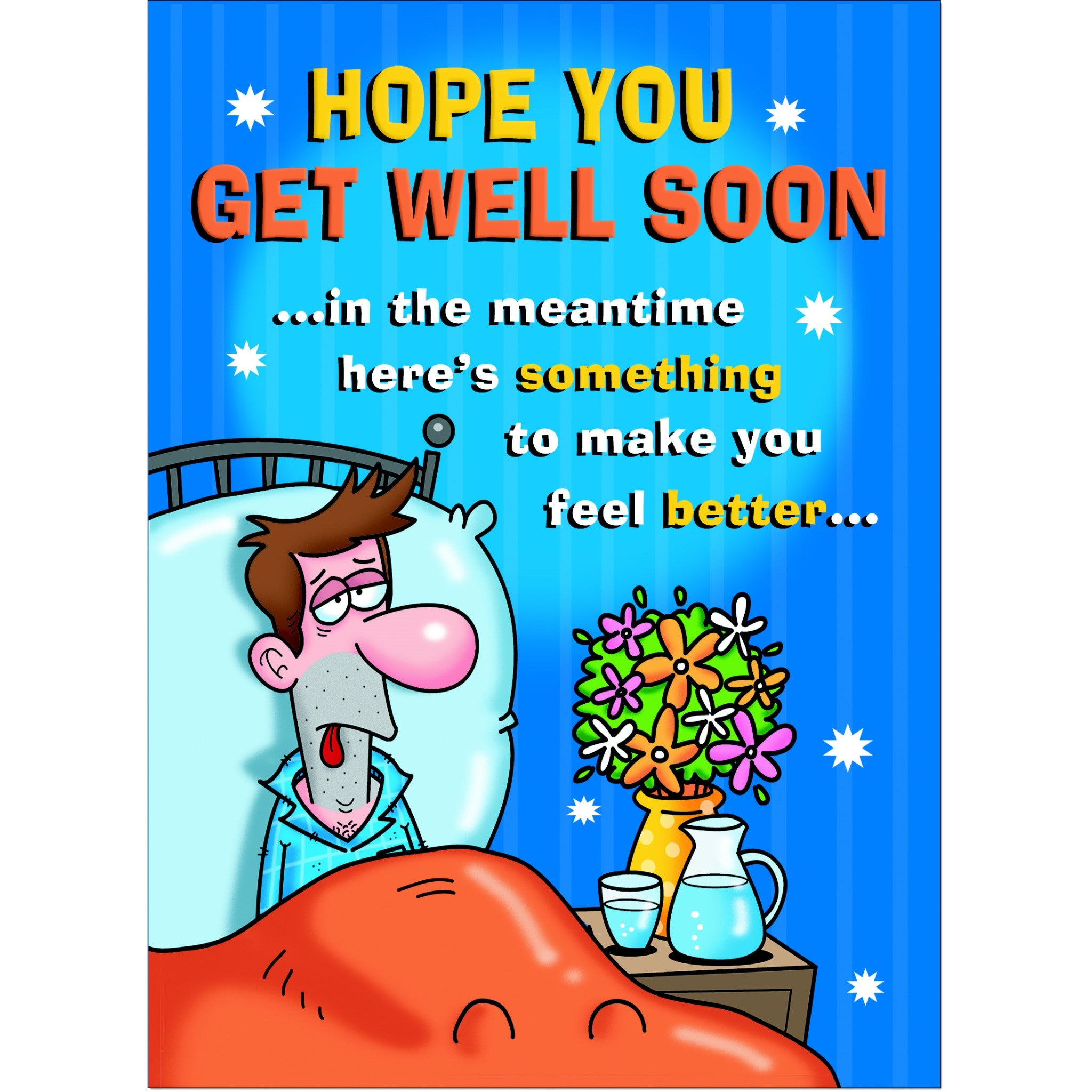 Details about  /Doodlecards Funny Get Well Soon Greeting Card Medium