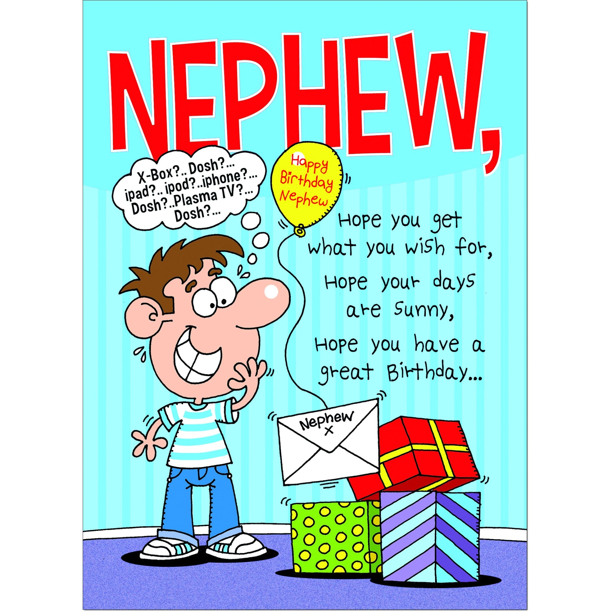 Awesome Doodlecards Funny Nephew Birthday Card Medium Doodlecards Personalised Birthday Cards Veneteletsinfo