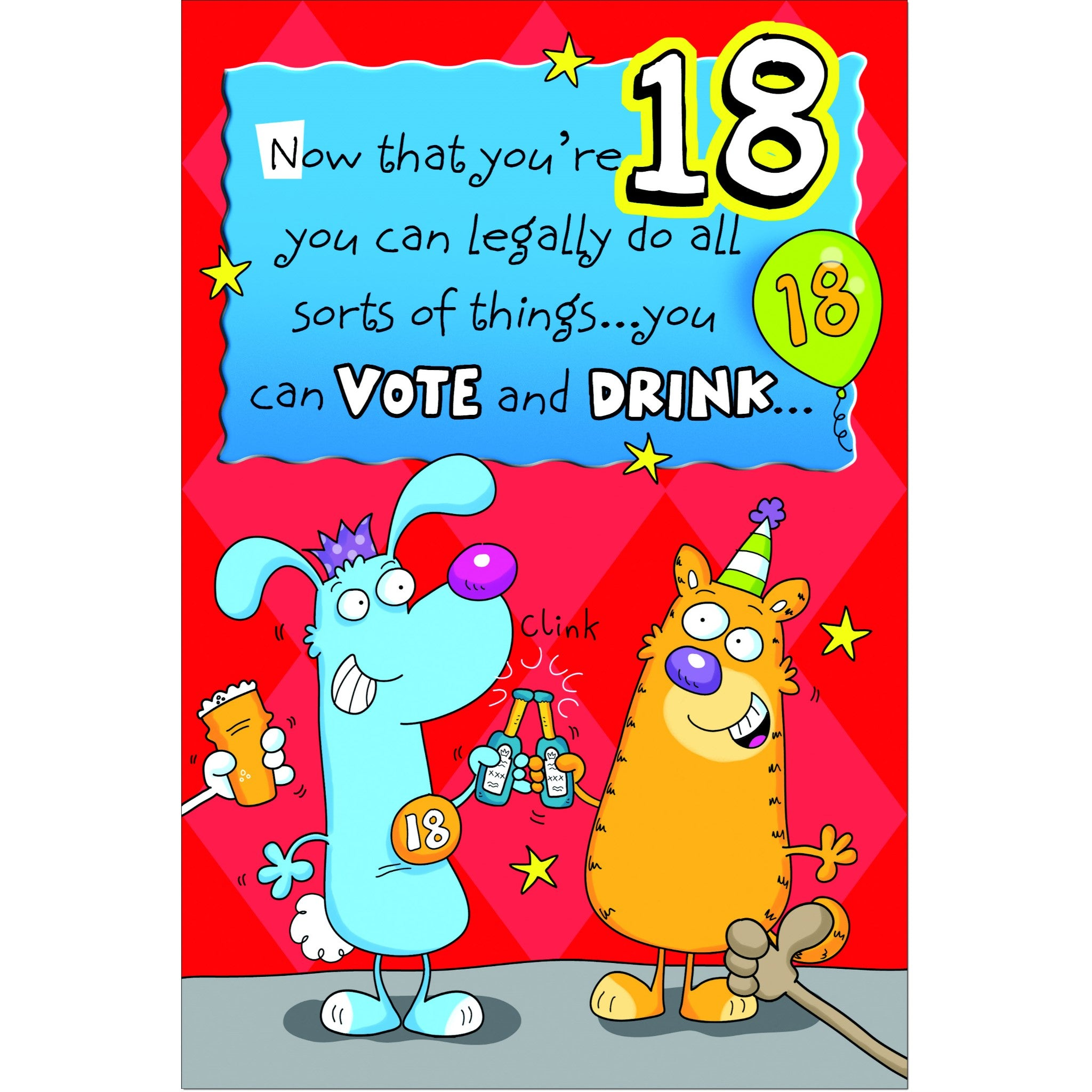 Doodlecards Funny 18th Birthday Card Age 18 Medium Doodlecards