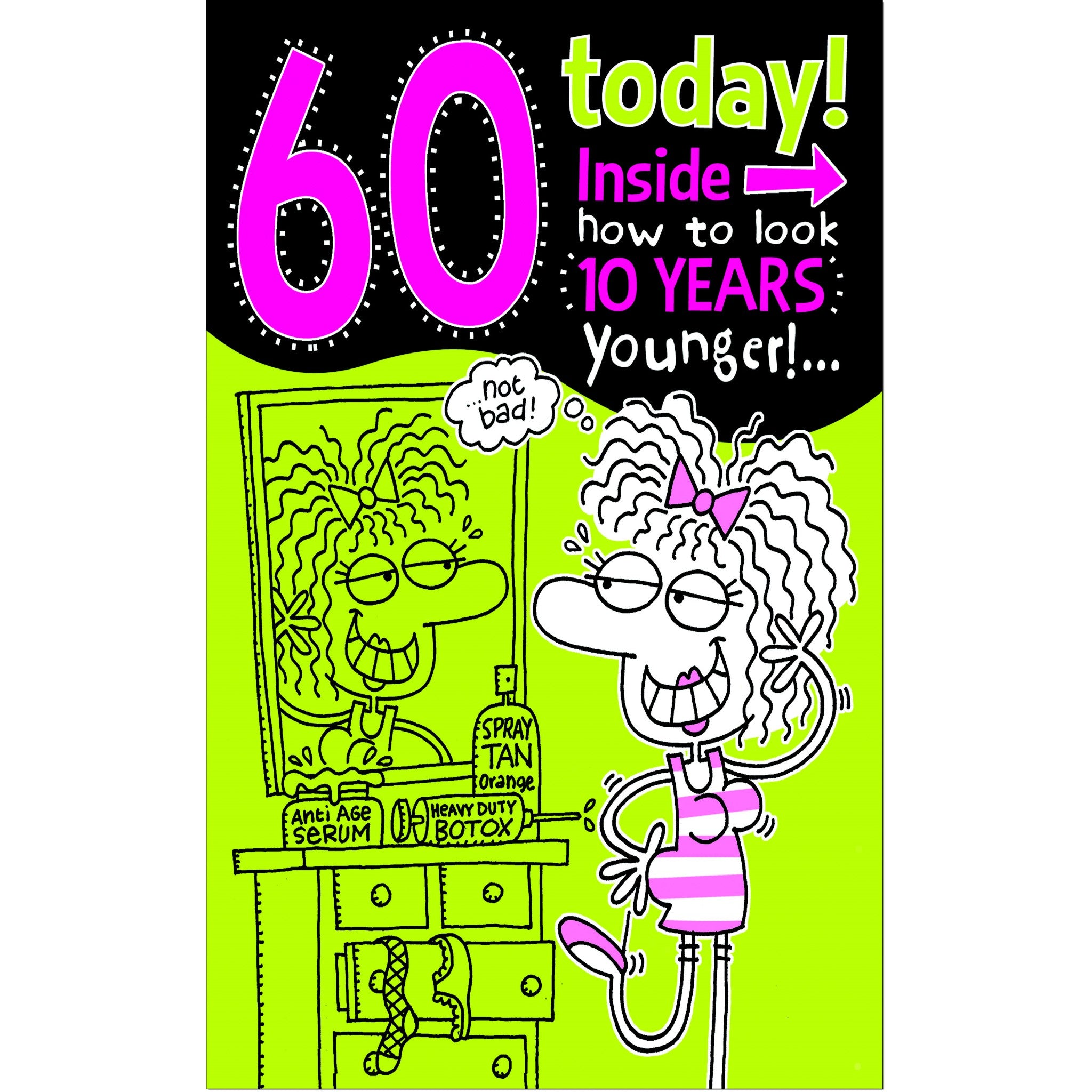 Doodlecards Funny 60th Birthday Card Age 60