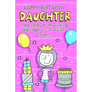 Doodlecards Funny Daughter Birthday Card - Medium