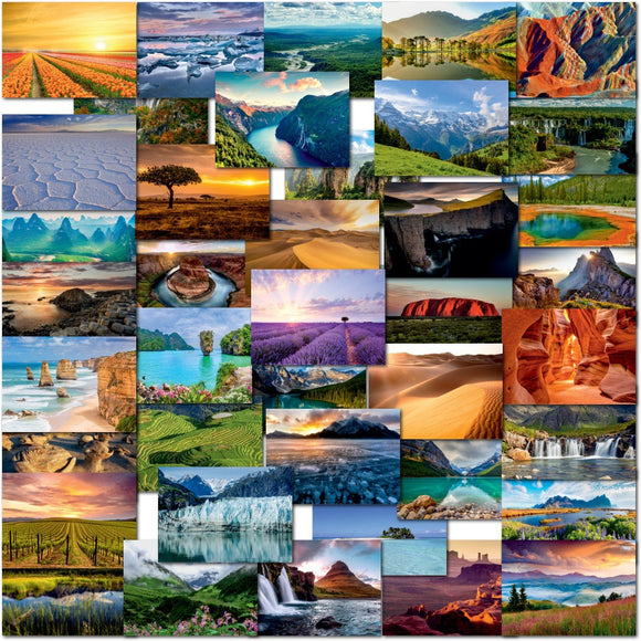 Pack of 40 Mixed Postcards All Different Landscapes World