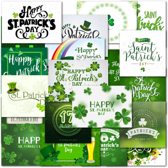 Doodlecards Pack of 20 St Patricks Day Standard & Square Cards