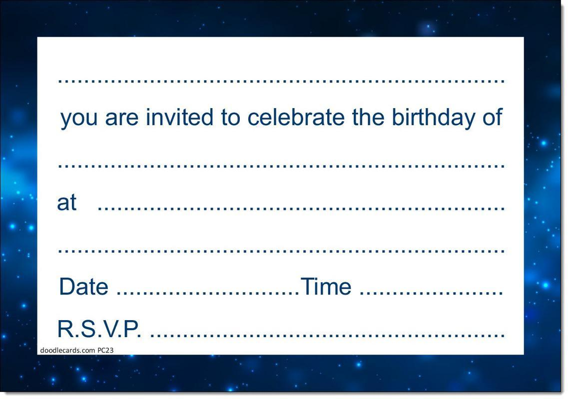 16th Birthday Party Invitations Age 16 Male Men Boys Pack Of 20