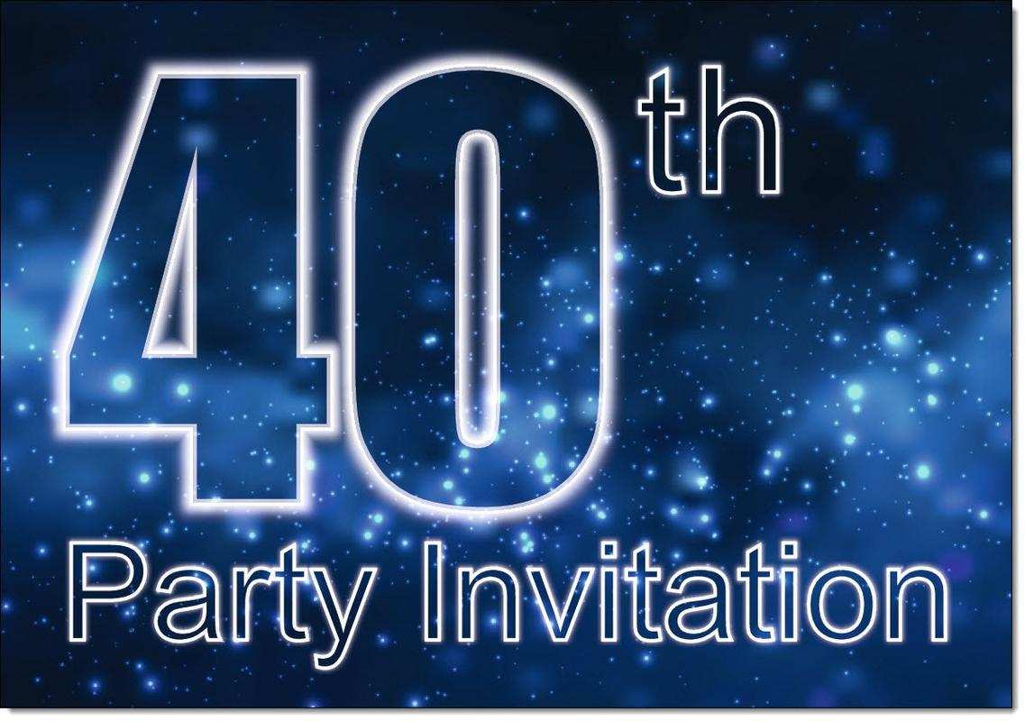 40th Birthday Party Invitations Age 40 Male Mens Pack Of 20 Invites Envelopes