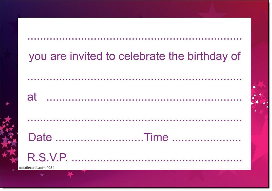 NEW Pack Of 20 50th Birthday Party Invitations Male Invites With Envelopes Doodlecards