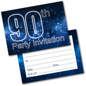 90th birthday party invitations age 90 male mens pack of 20 invites 90th birthday party invitations age 90 male mens pack of 20 invites envelopes filmwisefo