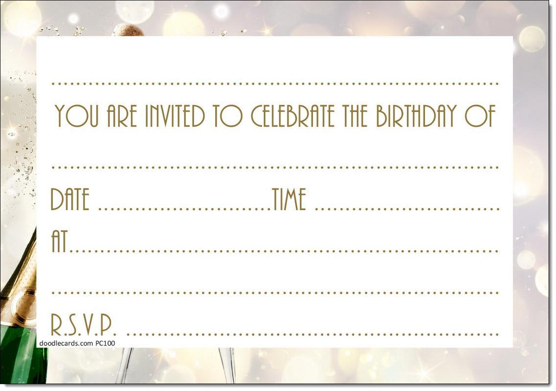 80th Birthday Party Invitations Age 80 Male Mens Female Womens Pack ...