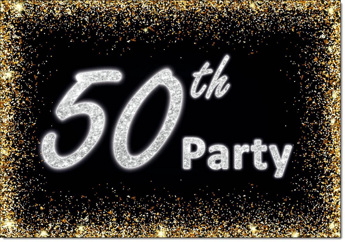 50th Birthday Party Invitations Age 50 Male Mens Female Womens Pack 20 Invites